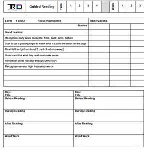 guided reading planning trio professional learning