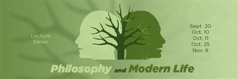modern lifestyle philosophy and modern life lecture series college of