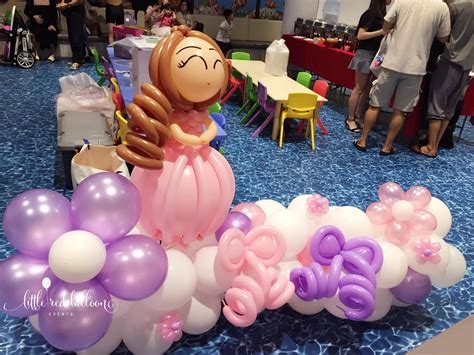red balloon princess party decorations