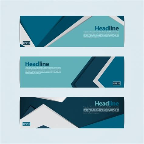 design x banner vector blue and green banner design vector free download