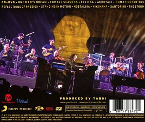 Cddvd Yanni The Concert yanni the concert live from the great pyramids of cd dvd new ebay