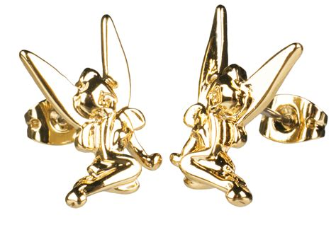 Disney Couture Tinker Bell Bamboo Earrings by 14kt Gold Plated Tinker Bell Stud Earrings From Disney Couture