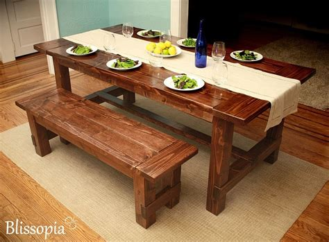 Custom Kitchen Tables Custom Farmhouse Dining Table By Blissopia Custommade
