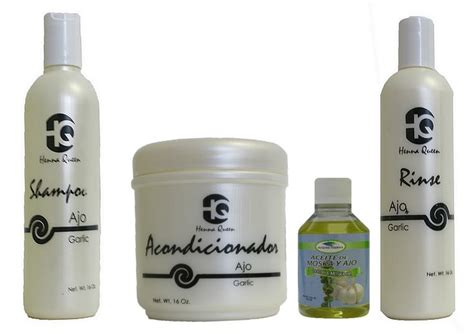 dominican hair oils henna queen garlic de ajo madre tirera oil 4 piece set
