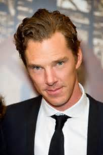 Benedict cumerbatch with slicked back and curly hairstyle