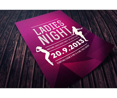 templates flyer psd ladies night flyer template psd template for music club