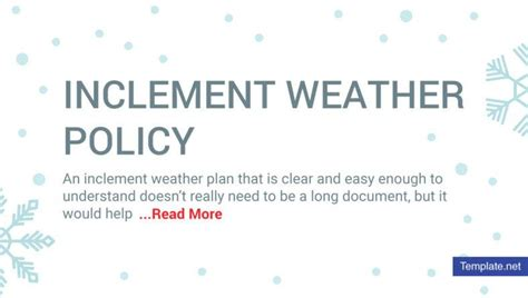 inclement weather policy template 11 inclement weather policy templates pdf free