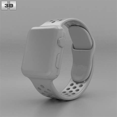 Apple Series 2 Nike 38mm Silver Wth Flat Silver Volt Sport Band apple nike 38mm silver aluminum flat silver white nike sport band 3d model hum3d