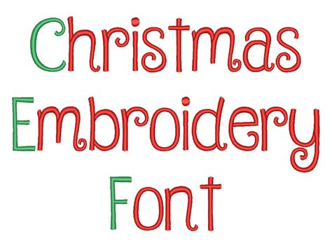 design holiday font christmas embroidery font machine embroidery monogram font