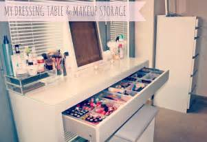 Ikea Makeup Vanity Organizer My Makeup Storage Ikea Malm Dressing Table Sweet
