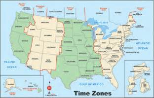 maps usa map time zones