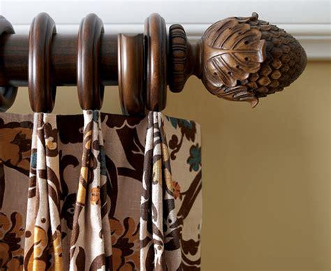 Pole Curtain Rods Kirsch Decorative Wood Drapery Hardware Kirsch Wood Poles