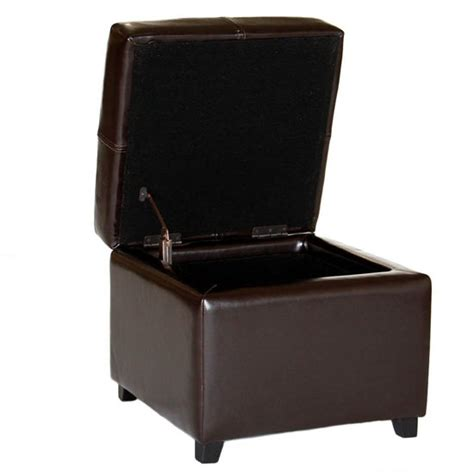 small leather ottoman storage baxton studio pandora leather small storage ottoman with