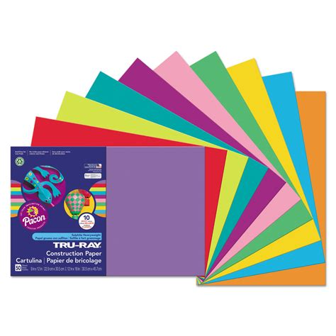construction paper tru construction paper by pacon 174 pac102941