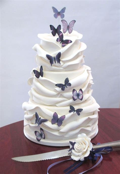 butterfly wrap wedding cake cakecentralcom