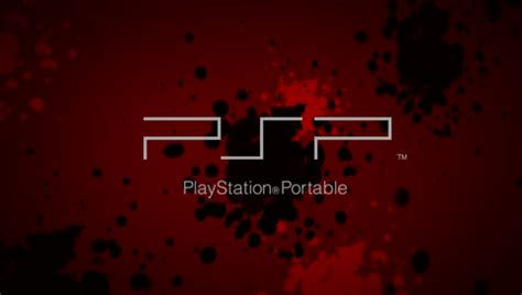 psp themes with sound sony black with red glow ctf theme for 3 90 firmware