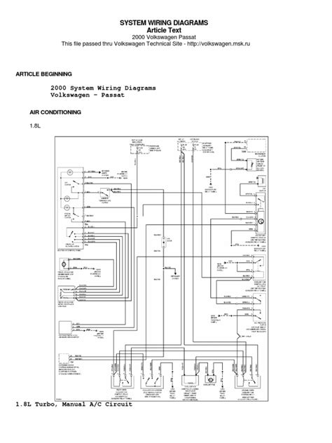 passat b5 5 wiring diagram efcaviation