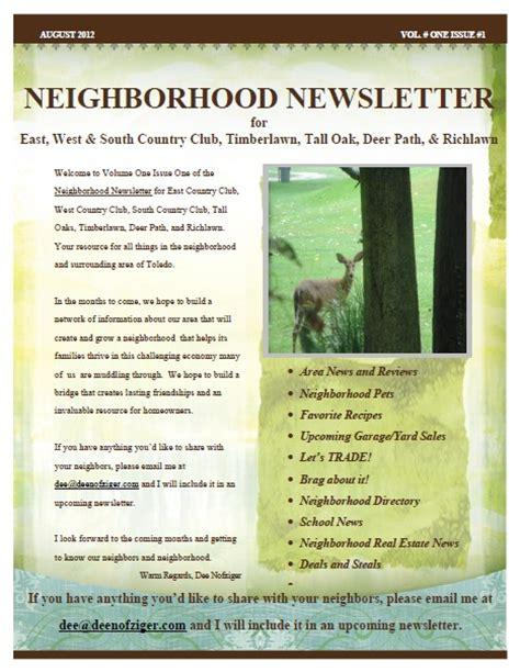neighborhood newsletter aug 2012 country club
