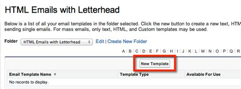 html email template available for you now create a salesforce html email template with merge fields