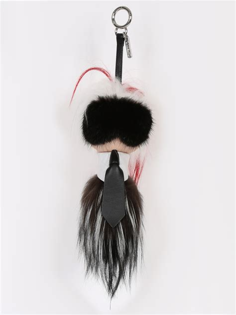 fendi large karlito fur charm luxury bags