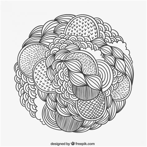 free draw patterned circle vector free