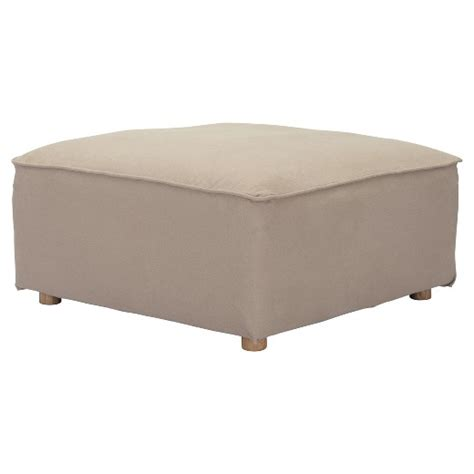 Low Ottomans Modern Low Profile Upholstered Canvas Ottoman Zm Home Target