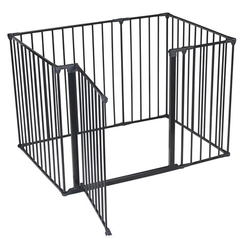 indoor puppy pen safetots puppy indoor pet pen fence cage playpen black various sizes ebay