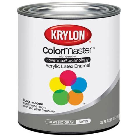 krylon colormaster classic gray acrylic enamel paint quart other home improvement