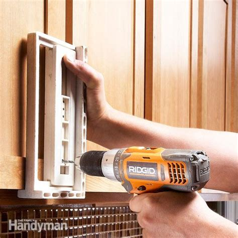kitchen cabinet hardware template how to install cabinet hardware the family handyman