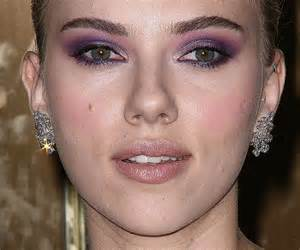 johansson eye color johansson purple eyeshadow makeup look gala