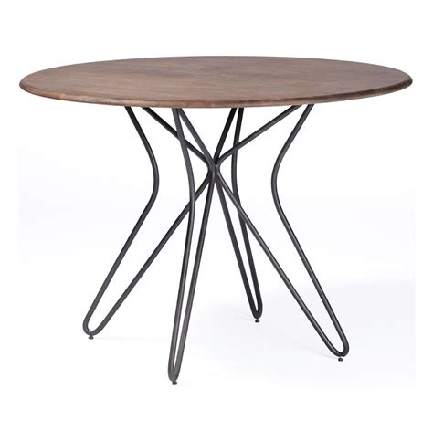 Industrial Bistro Table Henry Industrial Modern Paper Clip Bistro Table Kathy Kuo Home