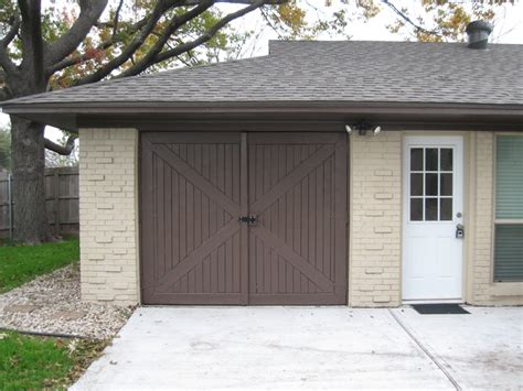 Barn Door Garage Door This Barn Door Style Garage Door Brandon