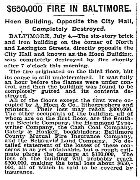 Baltimore History Bits: The A. Hoen & Company Lithography