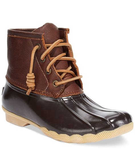 sperry boots sperry top sider saltwater water resistant leather boots