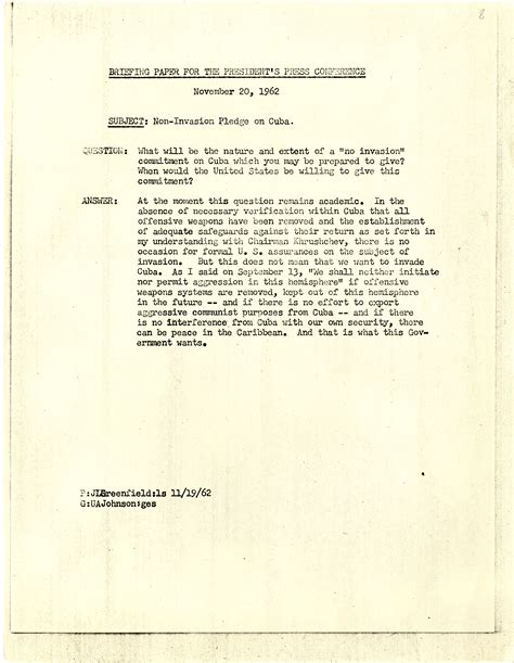 f kennedy research paper 11 20 62 briefing paper f kennedy presidential