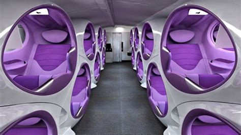 Airplane Comfort by Concept Airplane Seats Showcases Ultra Pods