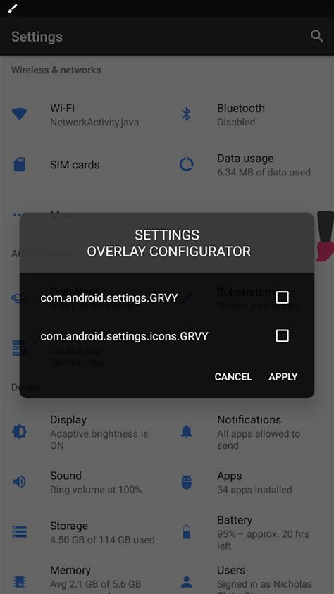 theme apk root substratum theme engine rooted oms tw rootless android