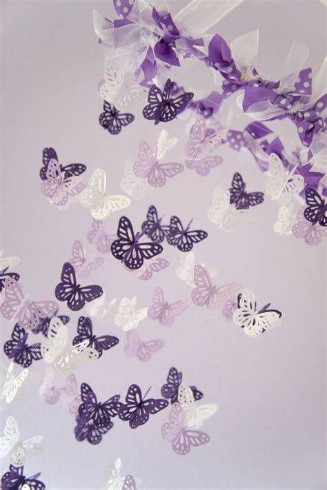 Lavender Nursery Decor Baby Nursery Decor Purple Lavender Butterfly Mobile Baby Shower Gift Nursery Decor