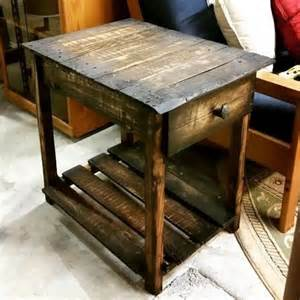 pallet end tables some useful ideas on reclaimed diy pallet end