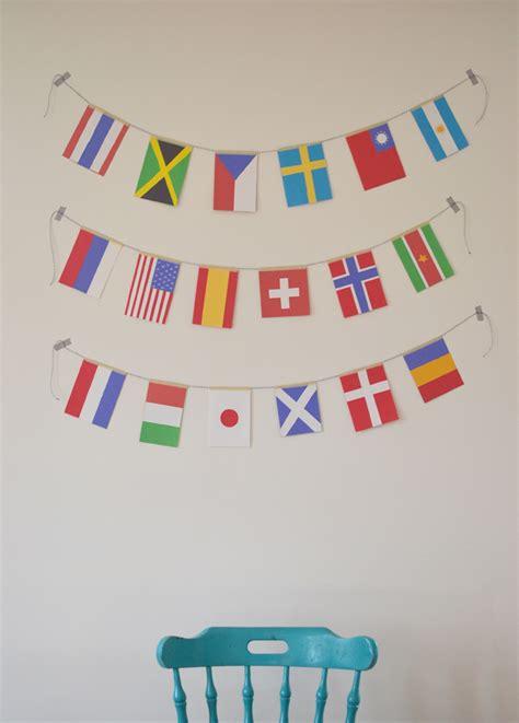 Flags Of The World Garland | make world flag garland artbar