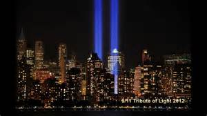 911 Lights Memorial by World Trade Center 9 11 Tribute Of Light 2012 Hd Youtube