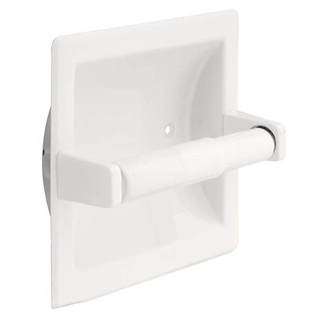 franklin brass futura recessed toilet paper holder  white dw  home depot