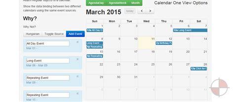 Angular Ui Calendar 5 Angularjs Calendars Exles Angularjs 4u