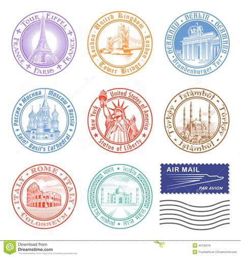 imagenes vintage de sellos sellos del viaje del vector foto de archivo imagen 44702516