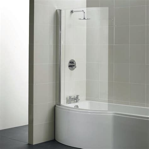 Shower Over The Bath santorini 100cm shower over bath screen bath screens