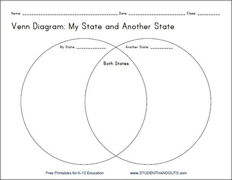 diagram worksheets 3rd grade my state venn diagram printable worksheet for grades 4 12 student handouts