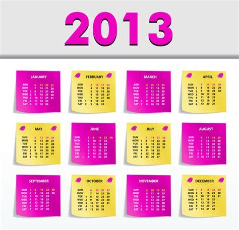 calendar design elements creative 2013 calendars design elements vector set 15