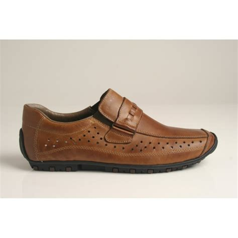 rieker rieker s shoe in leather with punch holes