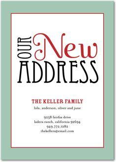 Brittanys New Hubby Needed A Green Card by New Address Announcement On New Address Cards