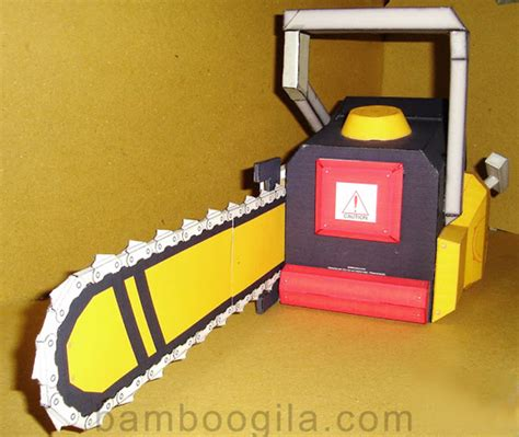 Papercraft Props - papercraft chainsaw gravedigger s local 16